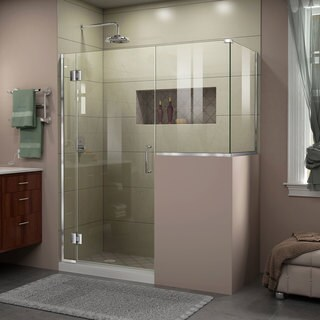 DreamLine Unidoor-X 60 in. W x 40.375 in. D x 72 in. H Hinged Shower Enclosure (More options available)