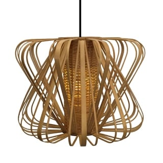 Bamboo Slat Striped Pendant Lamp (Philippines)