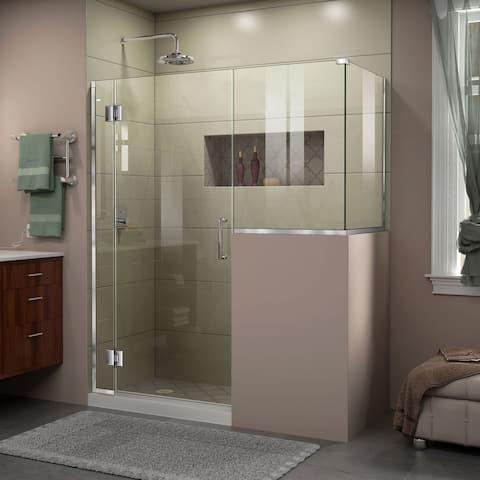 "DreamLine Unidoor-X 60 in. W x 36 3/8 in. D x 72 in. H Frameless Hinged Shower Enclosure - 36.38"" x 60"""