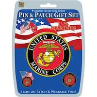 United States Marine Corps Pin and Patch Gift Set