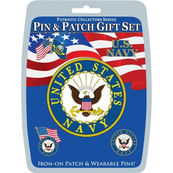 United States Navy Pin and Patch Gift Set