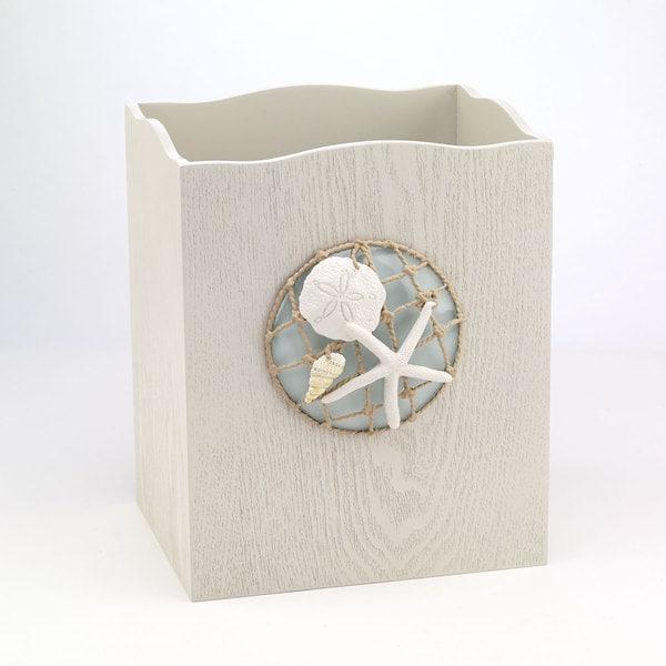 Sea Glass Wastebasket