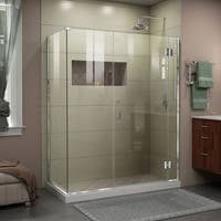 DreamLine Unidoor-X 58.5 in. W x 30 3/8 in. D x 72 in. H Frameless Hinged Shower Enclosure