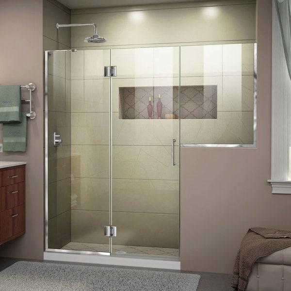 DreamLine Unidoor-X 72 - 72 1/2 in. W x 72 in. H Hinged Shower Door