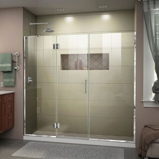 DreamLine Unidoor-X 62-62 1/2 in. W x 72 in. H Frameless Hinged Shower Door