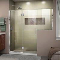 DreamLine Unidoor-X 72-72 1/2 in. W x 72 in. H Frameless Hinged Shower Door