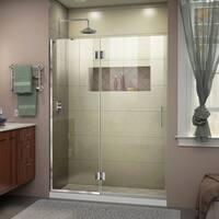 DreamLine Unidoor-X 48 in. W x 72 in. H Frameless Hinged Shower Door