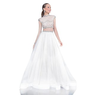 Terani Couture Two-piece Long Organza Ballgown