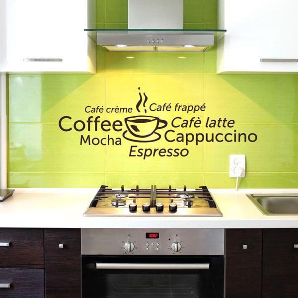 Coffee World Vinyl Mural Wall Decal