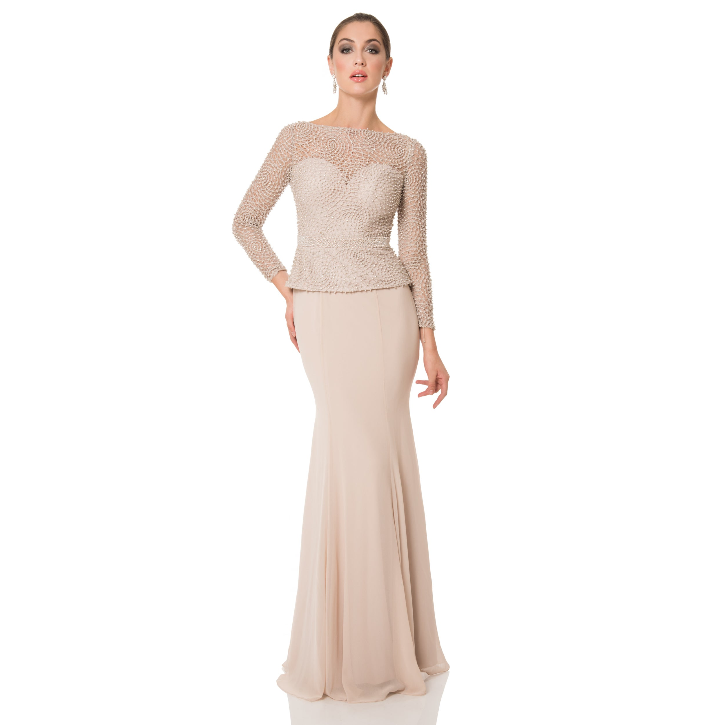 TERANI Couture Elegant Long Mother of the Bride Dress (Ta...