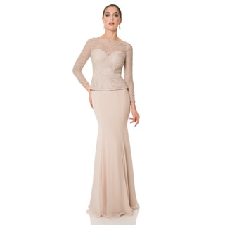 Terani Couture Elegant Long Mother of the Bride Dress