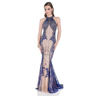 Terani Couture Women's Intricately Beaded Halter Evening Gown|https://ak1.ostkcdn.com/images/products/11643782/P18576279.jpg?impolicy=medium