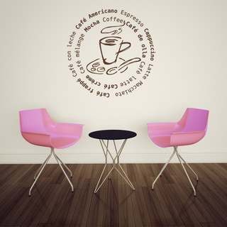 Coffee All Around Vinyl Mural Wall Decal