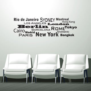 World Cities Iii Vinyl Mural Wall Decal