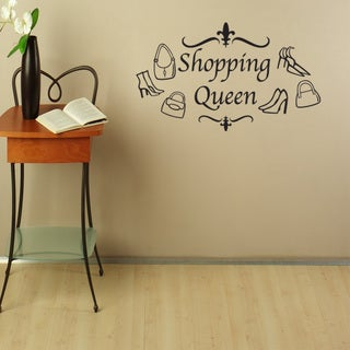 Shopping Queen Vinyl Mural Wall Decal