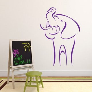 Abstract Elephant Vinyl Mural Wall Decal