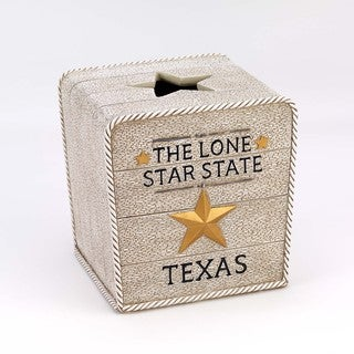 Lone Star Ivory Tissue Cover