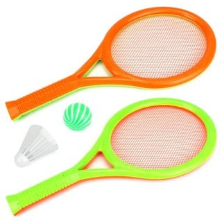 ST Sport Dual Toy Badminton and Tennis Toy Playset
