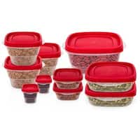 10 Pc Reusable Food Storage Containers - Travel Lunch Box w/ Airtight Lids