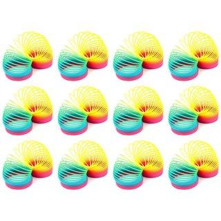 Velocity Toys Rainbow Magic Spring Toy Novelty Springs (Set of 12)