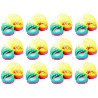 Velocity Toys Rainbow Magic Spring Toy Novelty Springs (Set of 12)