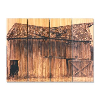 Old Barn 22.5x16 Indoor/ Outdoor Full Color Cedar Wall Art