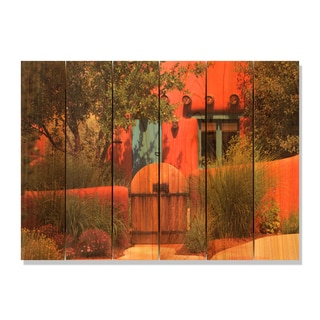 La Casa 33x24 Indoor/ Outdoor Full Color Cedar Wall Art