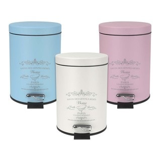 The Paris Collection Wastebasket with Foot Pedal