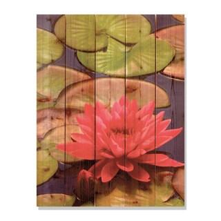 Lotus Blossom 28x36 Indoor/ Outdoor Full Color Cedar Wall Art