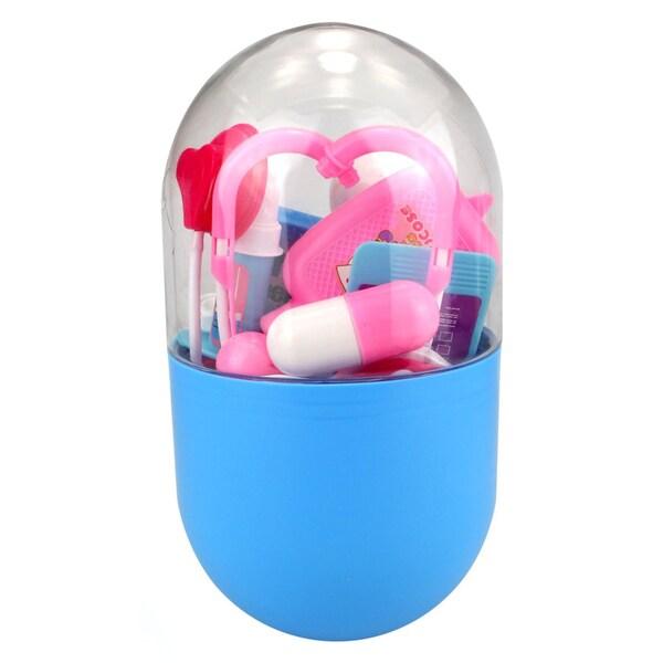 Velocity Toys Pill Capsule Case Pretend Play Toy Doctor Nurse Set