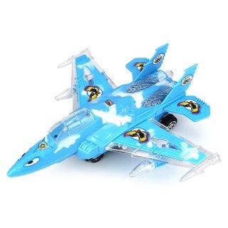 Aerial Conqueror Jet Battery Operated Bump and Go Toy Plane (Colors May Vary)