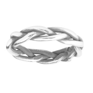 Handmade Rugged Loose Weave Braid HillTribe Silver Ring (Thailand)