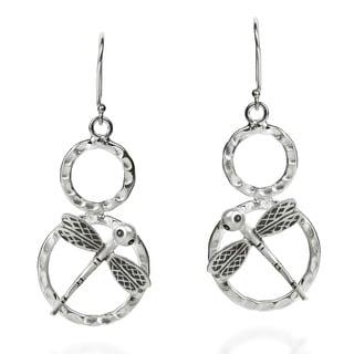 Charming Dragonfly Handmade HillTribe Silver Earrings (Thailand)