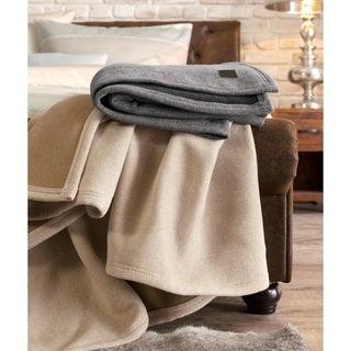 IBENA Oliver Jacquard Herringbone Oversized Reversible throw blanket