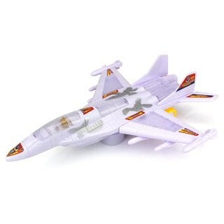 F22 Supersonic Fighter Jet Battery Operated Bump and Go Toy Plane (Colors May Vary)