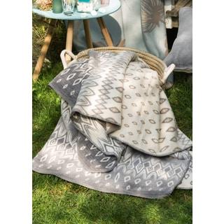IBENA Sorrento Bohemian Oversized Throw Blanket with Whipstitch