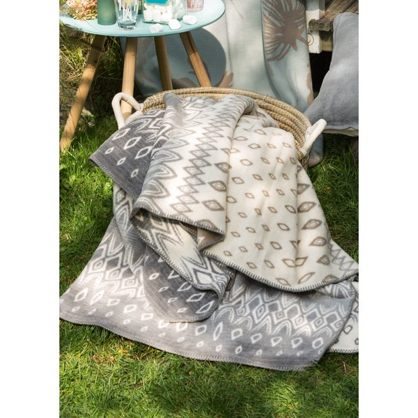 IBENA Sorrento Bohemian Oversized Throw Blanket with Whipstitch