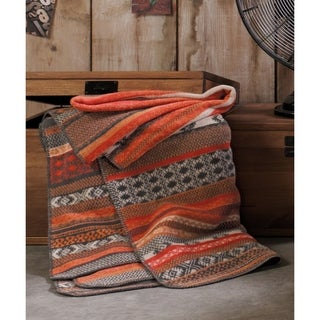 Sorrento Folklore Fair Isle Oversized Throw Blanket with Whipstitch