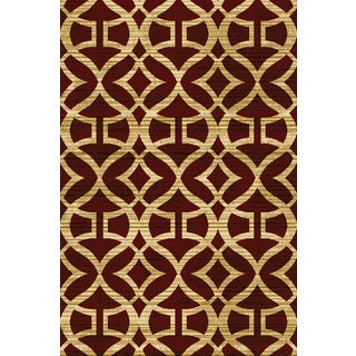 "Home Dynamix Royalty Collection Traditional Red Area Rug  (5'2""X7'2"")"