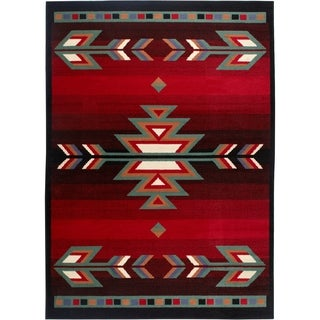 "Home Dynamix Premium Collection Black (5'2"" X 7'4"") Machine Made Polypropylene Area Rug"