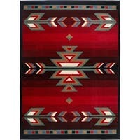 "Home Dynamix Premium Collection Black Machine Made Polypropylene Area Rug - 5'2"" x 7'4"""