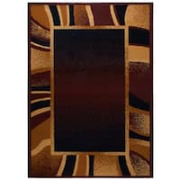 """Home Dynamix Premium Collection Contemporary Brown Area Rug - 5'2"""" x 7'4"""""""