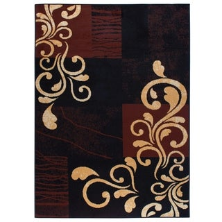 "Home Dynamix Premium Collection Contemporary Ebony Area Rug - 5'2"" x 7'4"""