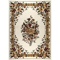 """Home Dynamix Optimum Collection Contemporary Ivory Area Rug  (5'2X7'2"""")"""
