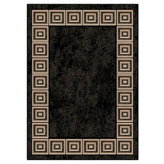 "Home Dynamix Optimum Collection Contemporary Black Area Rug  (5'2""X7'2"")"