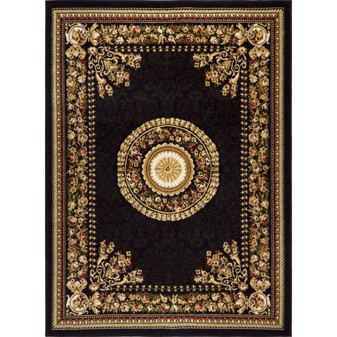 """Home Dynamix Optimum Collection Contemporary Black Area Rug - 5'2"""" x 7'2"""""""