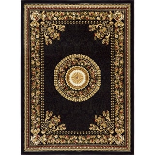 """Home Dynamix Optimum Collection Contemporary Black Area Rug  (5'2X7'2"""")"""