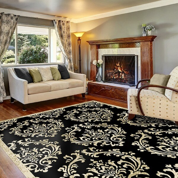 Home Dynamix Optimum Collection Contemporary Black Area Rug (5u0026#x27;2X7u0026#x27
