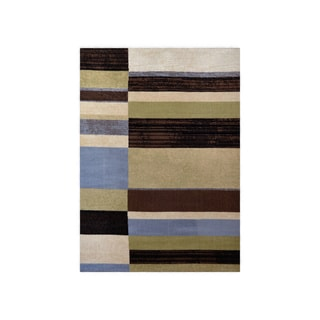 "Home Dynamix Optimum Collection Blue (5'2"" X 7'2"") Machine Made Polypropylene Area Rug"