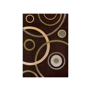 "Home Dynamix Optimum Collection Brown (5'2"" X 7'2"") Machine Made Polypropylene Area Rug"